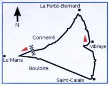 Course map of the first Grand Prix