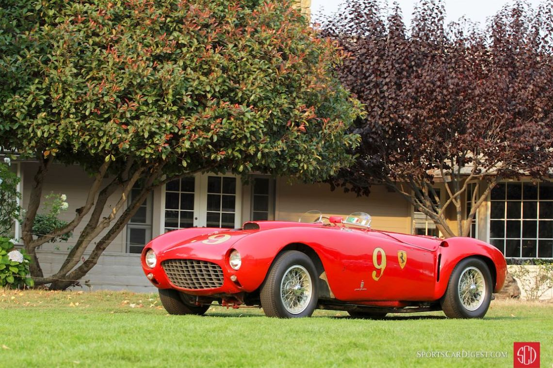 Best of Show winning 1953 Ferrari 375 MM Pinin Farina Spider