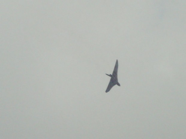 Aircraft was as much a feature as cars at Goodwood, with this incredible Vulcan Bomber making a noisy flypast on two days.