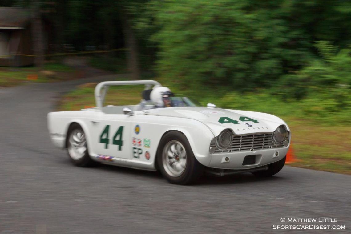 Wayne Carini in his Triumph TR4