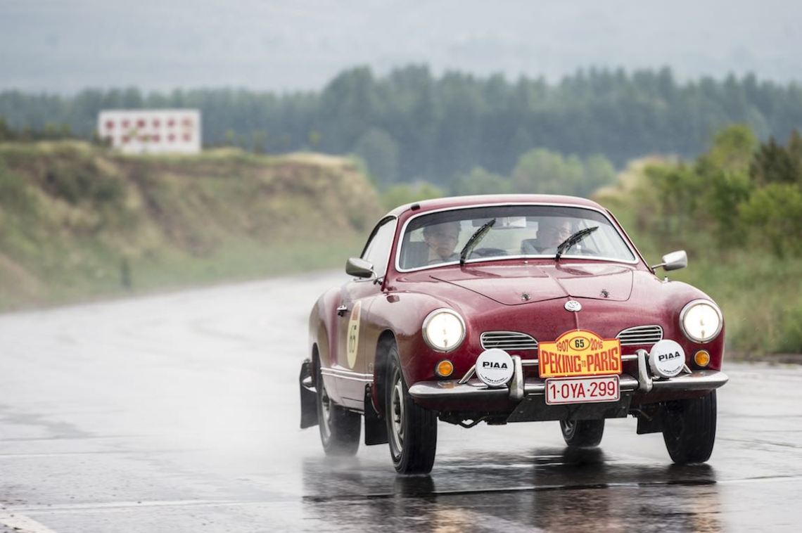 Car 65. Patrick Sommer(D) / Christine Sommer(B)1966 - Volkswagen Karmann Ghia1995, Peking to Paris 2016., Peking to Paris 2016. Day 02. Datong - Erenhot