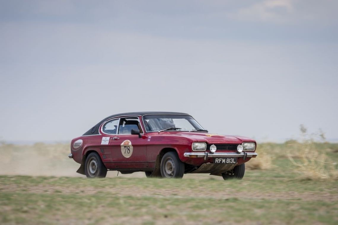 Car 78. Justin Fleming(GB) / Kristian Fleming(GB)1972 - Ford Capri1600, Peking to Paris 2016., Peking to Paris 2016. Day 03. Erenhot to camp.
