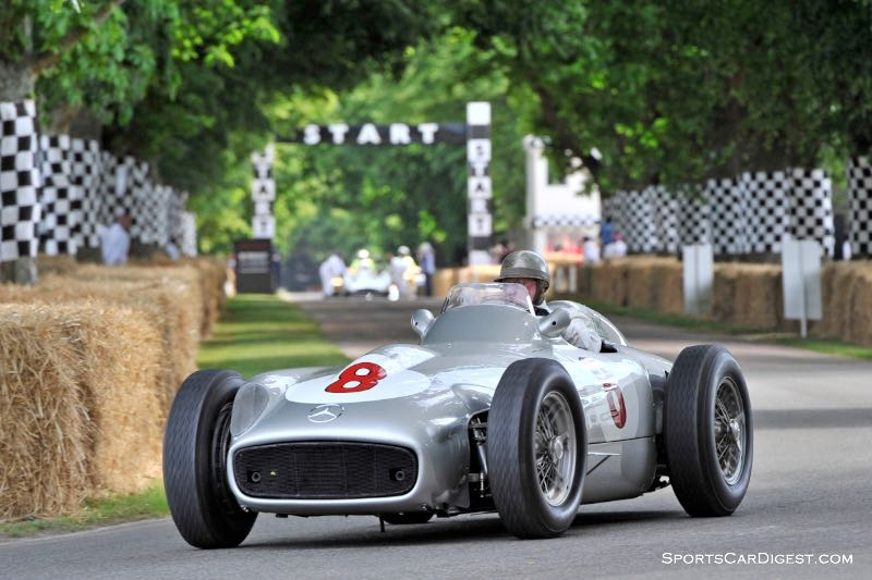Hans Herrmann in the 1954 Mercedes-Benz W 196 R