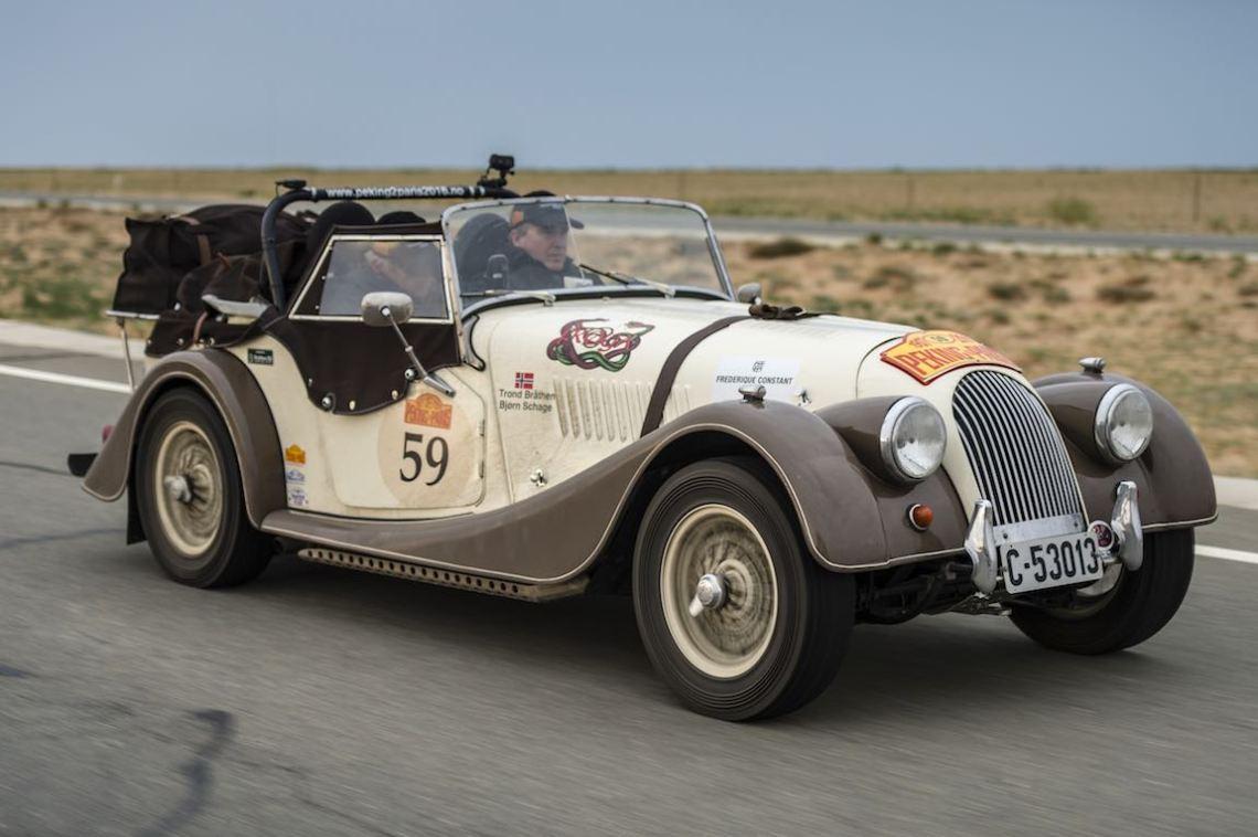Car 59. Bjorn Schage(N) / Trond Brathen(N)1960 - Morgan plus 41991, Peking to Paris 2016., Peking to Paris 2016. Day 02. Datong - Erenhot