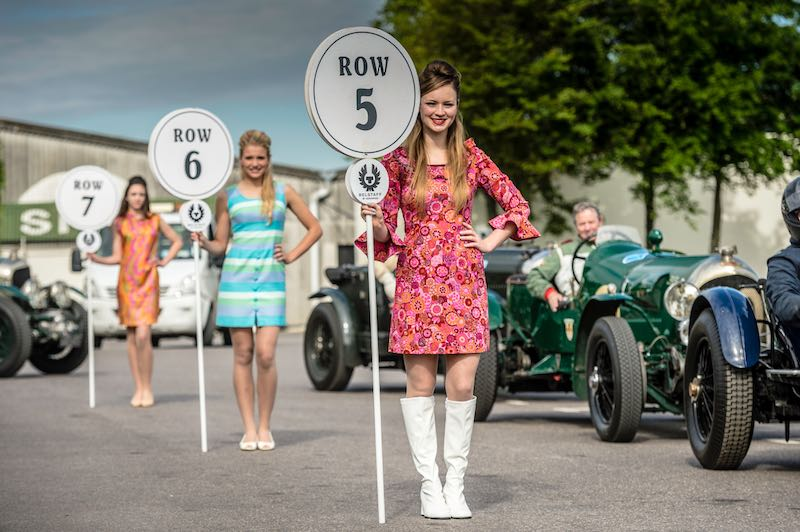 Grid girls at Benjafield's Sprint at Goodwood, May 2015