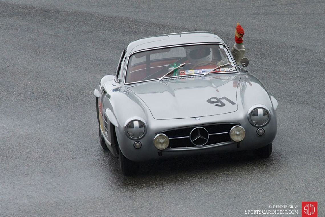 Alex Curtis - 1955 Mercedes 300SL after winning Sunday's race. It's been a long time sense I have seen a 300SL driven quickly on a damp track. Exciting.