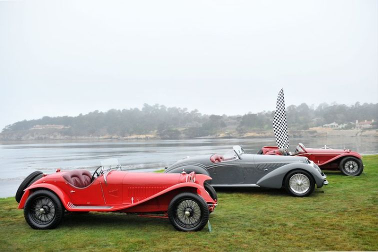Alfa Romeo 8C Class at Pebble Beach Concours