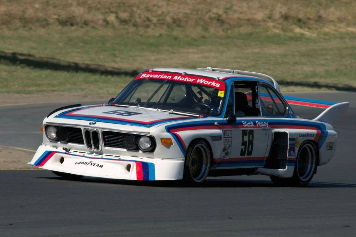 """My vote for """"drive of the weekend"""" goes to Henry Schmitt in this 1974 BMW 3.5 CSL chassis no.987. This car was raced by Hans Stuck and Sam Posey in the 1974/75 IMSA season. The real story and what makes this car/driver/crew combination so interesting is this, the car has been down for two years undergoing an engine and chassis rebuild. Bill Watson's RoadRockets garage here at Sears Point got the CSL up and running late Saturday afternoon. Henry took to the track Sunday afternoon in the group 13a with no seat time in the car for the past year or more. Starting 21st of 22 cars Henry drove the CSL through the pack ending the race in fourth over al second in class. To watch the car in traffic was an education in clean fast driving."""