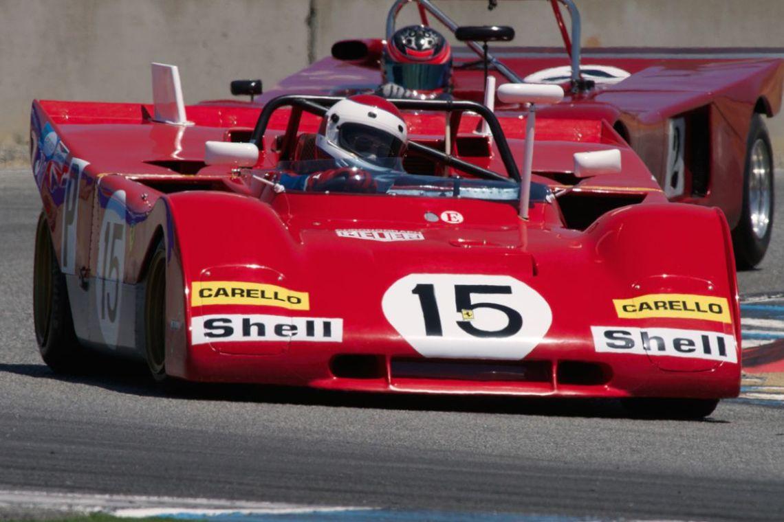 Ernie Prisbe's 1971 Ferrari 312PB in turn eleven.