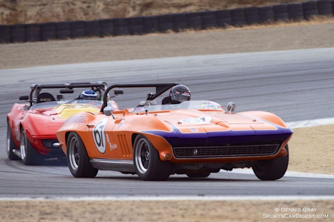 Jeni Yeakel-Swanson in her Chevrolet Corvette.