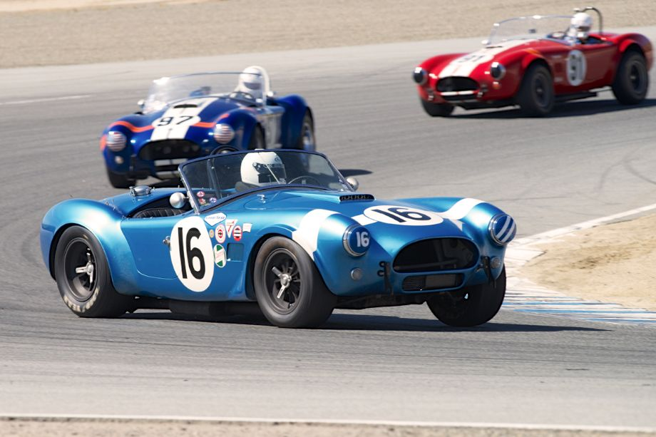 The trio of Shelby Cobras from the Park family - Steve, Lynn and Tim.