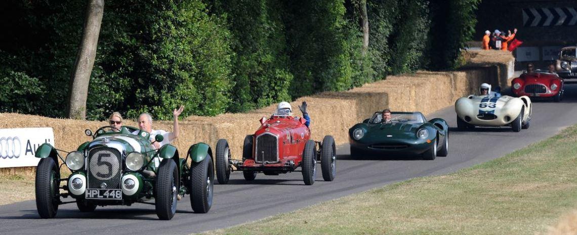 Le Mans Lagonda leads down hill