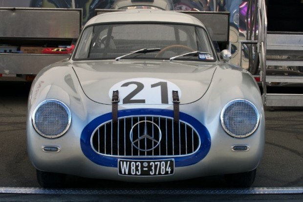 This 1952 Mercedes-Benz W194 currently owned by Bruce McCaw was overall winner of 1952 Le Mans 24 Hours, in addition the 1952 Nurburgring sports car race as a spider. It also served as a practice car at the La Carrera Panamericana.