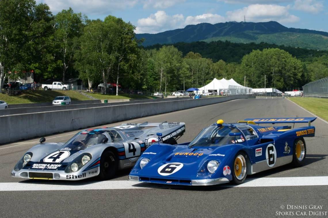 Martini and Rossi Porsche 917 and Sunoco Ferrari 512M