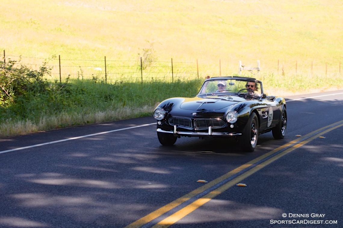 1959 BMW 507 Roadster driven by Scott and Rochelle Morris.