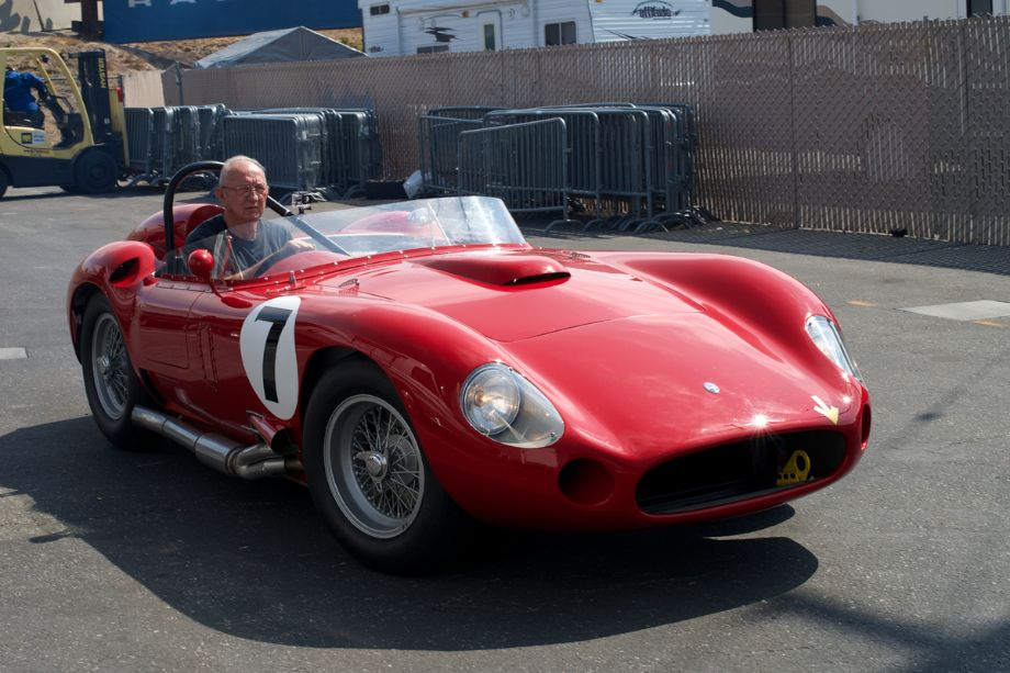 Maserati 450S comes off its transporter.
