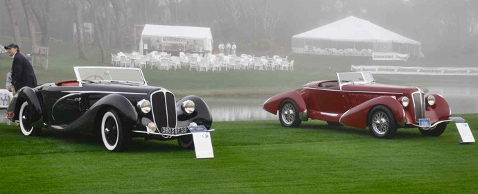 Delahaye 135MS Competition Cabriolet and Amilcar Pegase