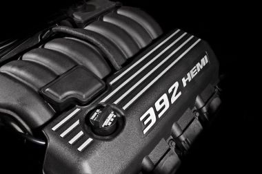 Under the hood of the 2012 Dodge Challenger SRT8 392 cubic inch