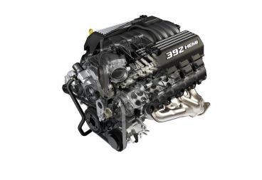 6.4-liter HEMI V-8 engine cutaway for Dodge Challenger SRT8 392