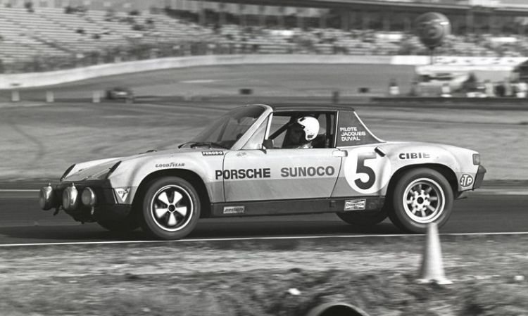 Jacques Duval, Bob Bailey, and George Nichols drove this Porsche 914/6 GT to seventh overall and first in class in the 1971 Daytona 24 hours of endurance. (Photo: Bill Warner)