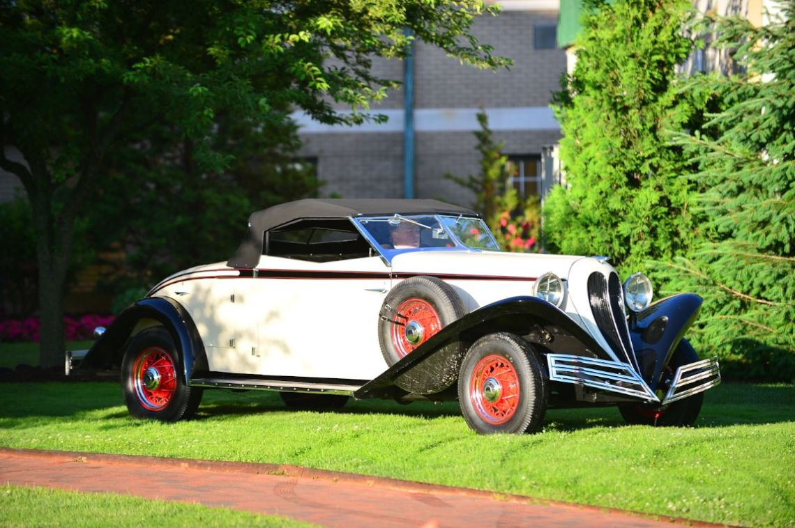 1935 Brewster Convertible Roadster.