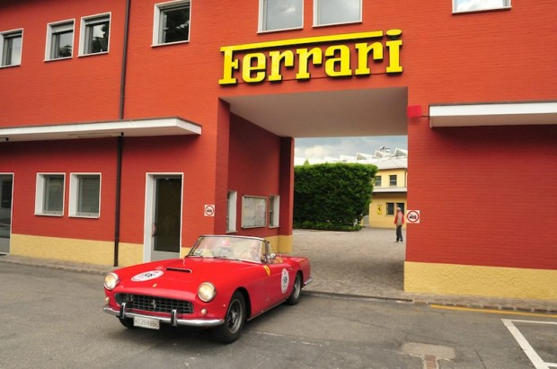 Ferrari 250 GT Cabriolet leaving Ferrari factory