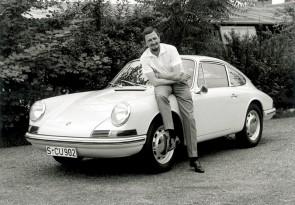 Ferdinand Alexander Porsche with Porsche Type 901 (1963)