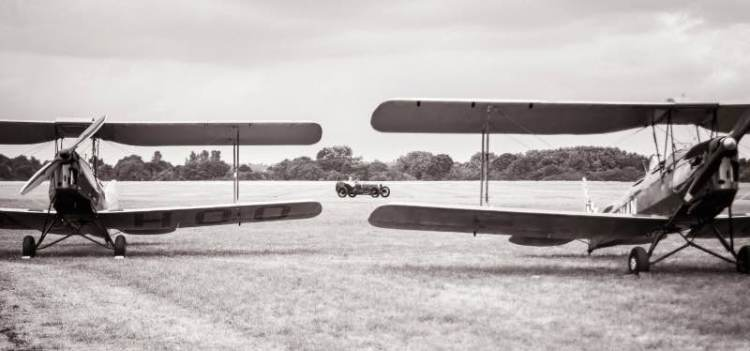 Tiger Moths and GP Sunbeam