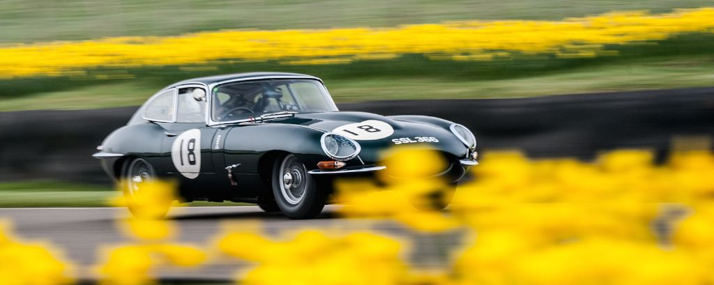 Jaguar E-Type Coupe at Goodwood Members' Meeting Test Day 2014