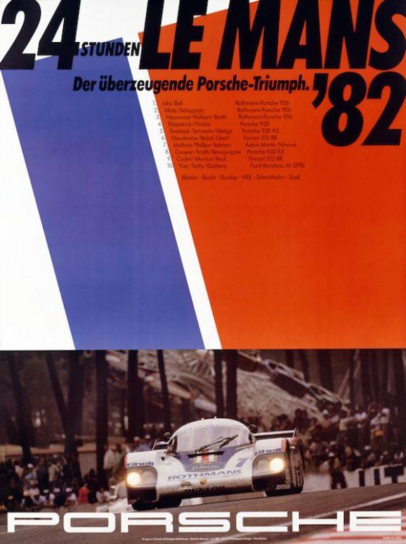 Historical poster Le Mans 1982