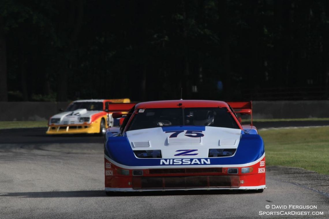 Theo Bean, 88 Nissan 300 ZXT Turbo, leads his brother out of turn 6.