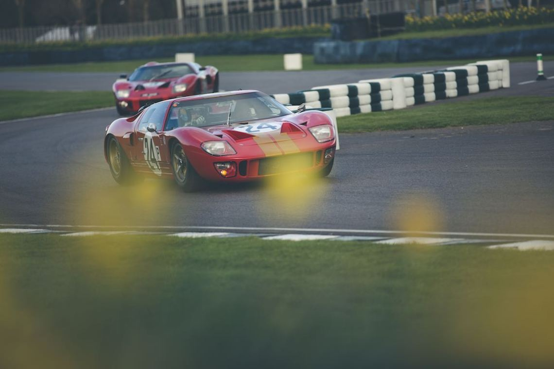 Pair of Ford GT40s (photo: Tom Shaxson | Goodwood Road and Racing)