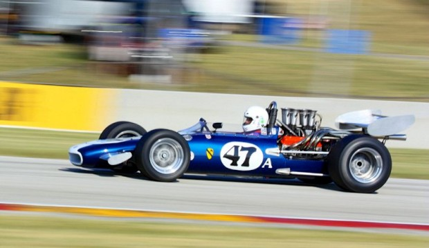 Steve Davis in the very pretty and fast 1969 Gurney Eagle F5000