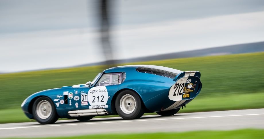 1964 Shelby Daytona Cobra Coupe at the Tour Auto Rally (photo: Julien Mahiels)