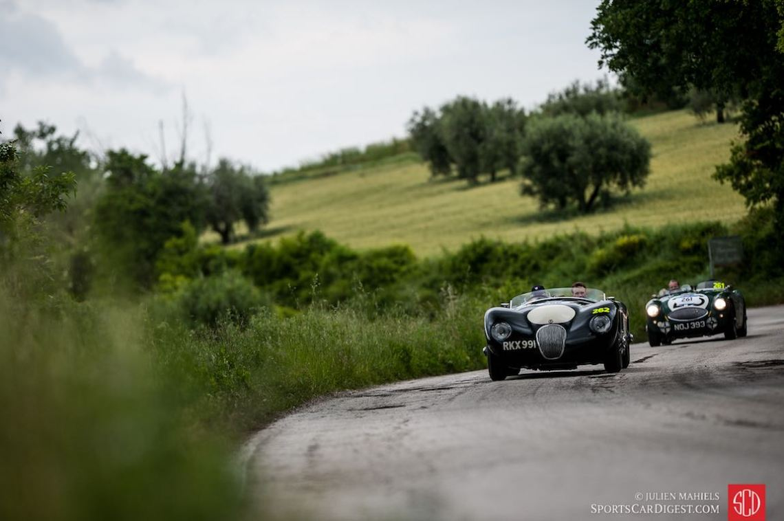 1953 Jaguar C-Type and 1953 Austin-Healey 100S