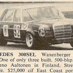 Mercedes-Benz 300 SEL Racing Saloon – Classic Cars for Sale