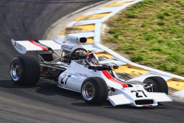 V8 Supercar driver Greg Murphy at speed in Chris Lambden's McRae GM1 at Hampton Downs
