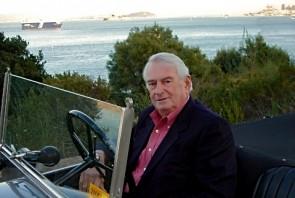 Martin Swig in his Lancia Lambda