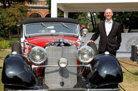 Mercedes-Benz 500K and owner Arthur Bechtel