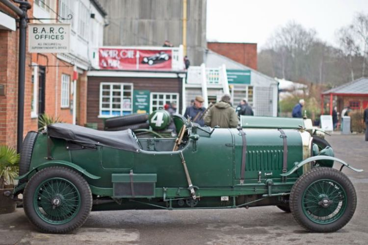 Bentley looked right at home at the Brooklands Museum New Year's Day Classic Gathering 2015 (photo: Jason Dodd)