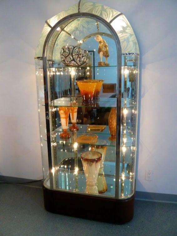 Carlo Bugatti glassware, Mullin Automotive Museum
