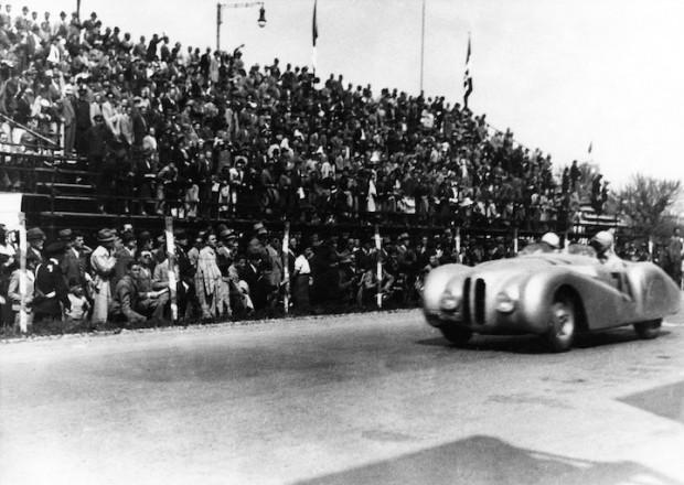 BMW 328 Mille Miglia 'Trouser Crease' Roadster during the 1st Italian Mille Miglia Grand Prix in Brescia