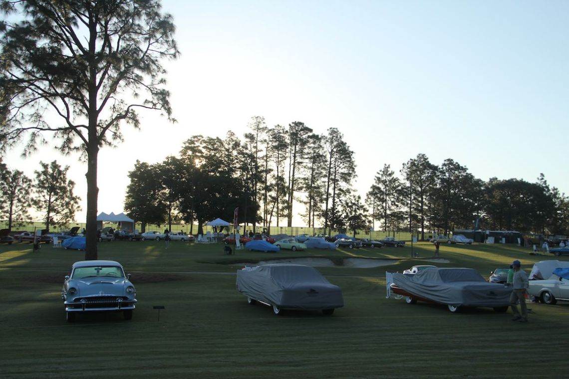 Early morning at the Pinehurst Concours
