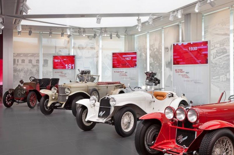 Pre-war Alfa Romeo display