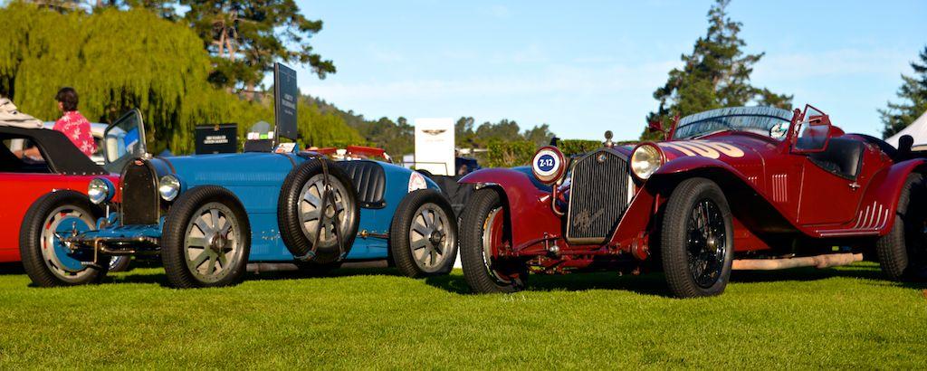 1928 Bugatti Type 35B and 1932 Alfa Romeo 8C 2300 Touring Corto Spider