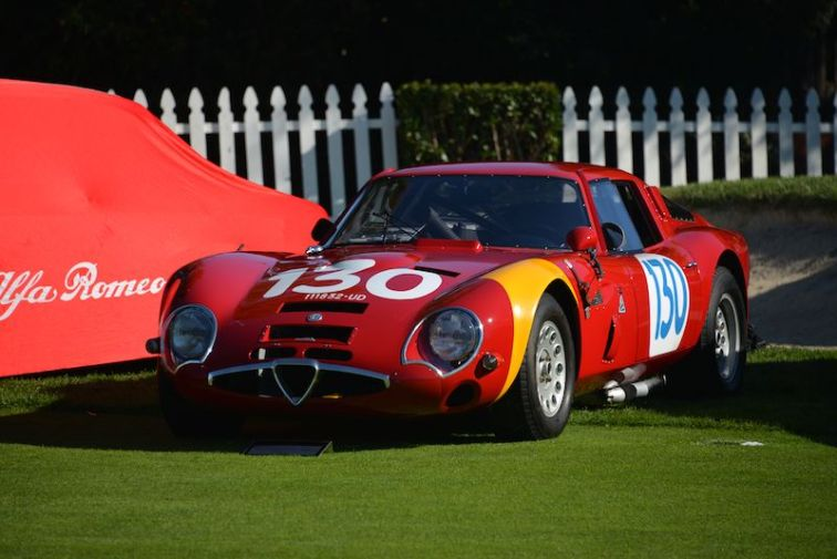 1965 Alfa Romeo Giulia TZ2 at Quail Motorsports Gathering