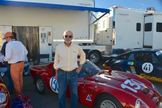 Auction Editor Rick Carey with 1965 Alfa Romeo Giulia TZ2