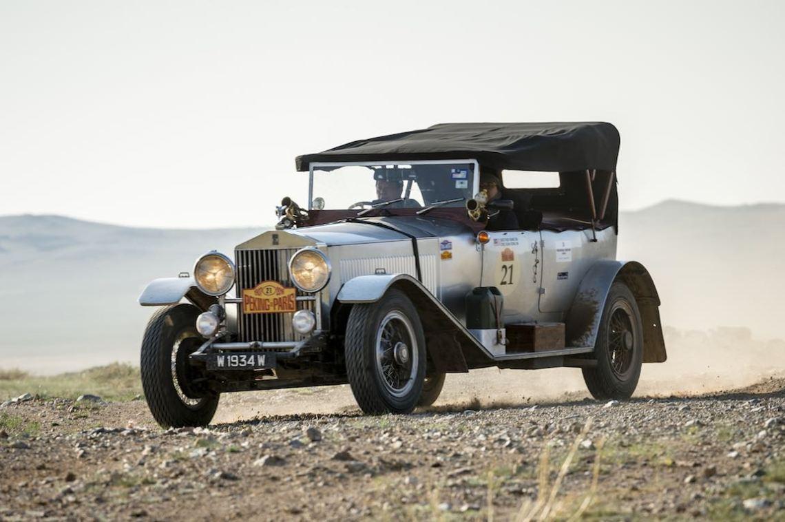 Car 21. Hok Kiang Sia(MY) / Eric Kuan Rong Sia(MY)1933 - Rolls Royce Phantom II7668, Peking to Paris 2016., Peking to Paris 2016. Day 04. Camp to Ulaan Baatar