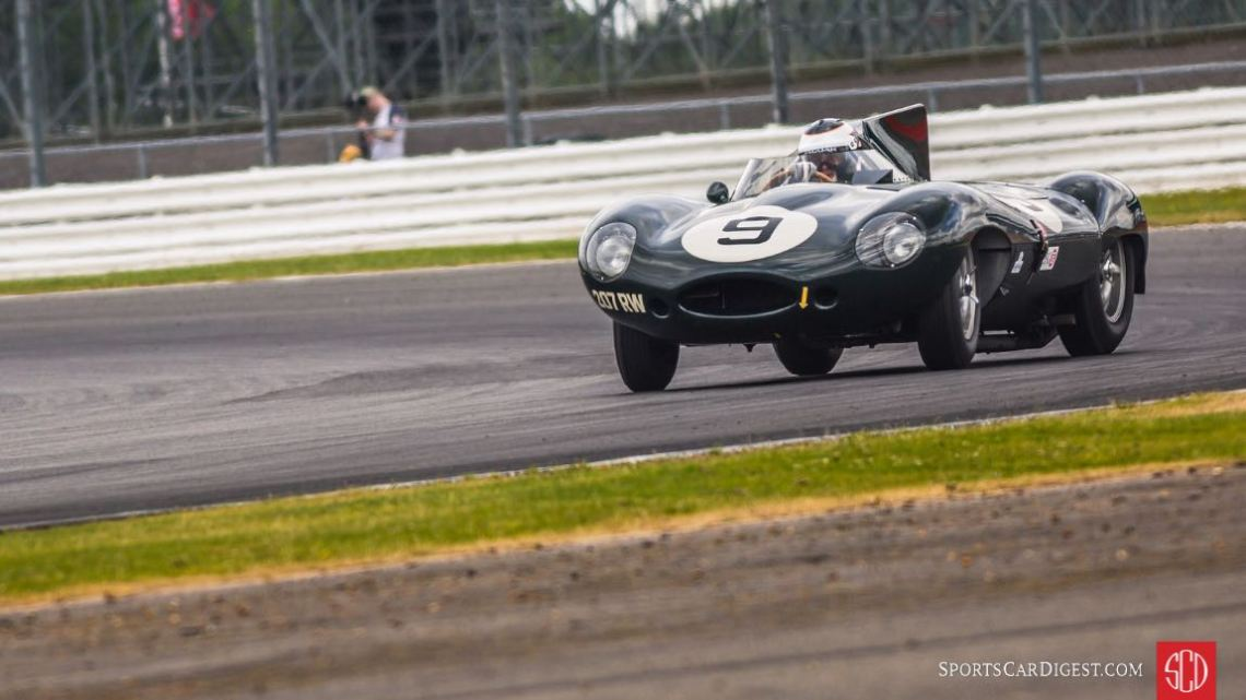 Sideways Jaguar D-Type