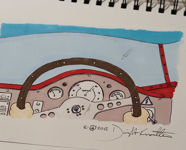 Hands on the Wheel Sketch
